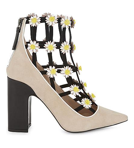 FABRIZIO VITI Daisy cage heeled ankle boots (Nude