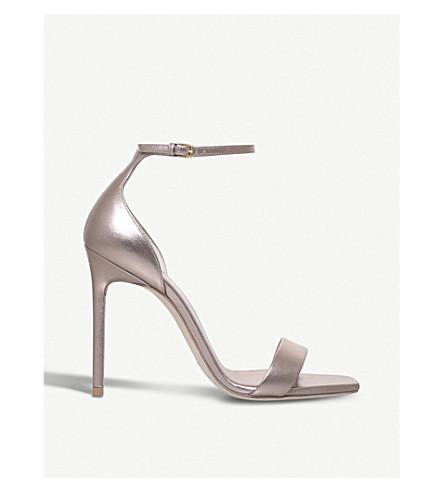 SAINT LAURENT Amber 105 metallic leather sandals (Bronze