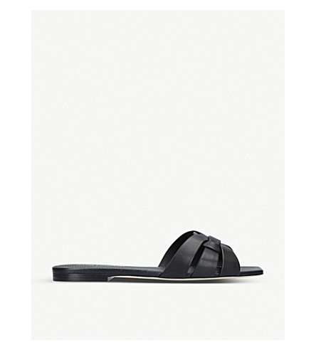 SAINT LAURENT Nu Pieds 05 leather sandals (Black
