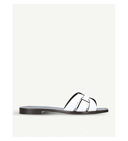 SAINT LAURENT Nu pieds 05 leather sandals (White