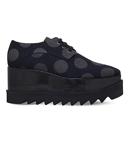 STELLA MCCARTNEY Elyse Komati flatform derby shoes (Blk/grey