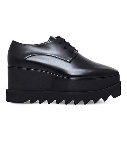 STELLA MCCARTNEY Elyse Total faux-leather derby shoes (Black