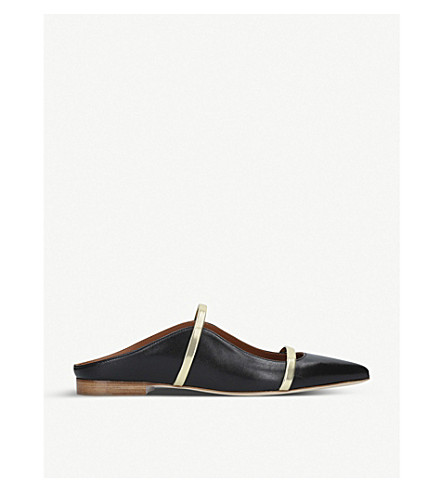 MALONE SOULIERS Maureen leather flats (Black