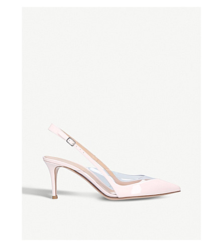 GIANVITO ROSSI C slingback leather courts (Pale+pink