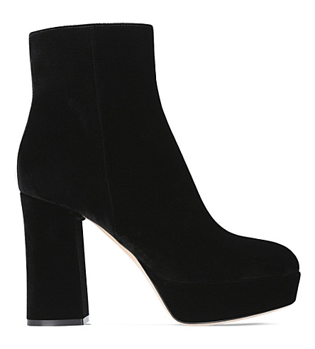 GIANVITO ROSSI Foley suede platform ankle boots (Black