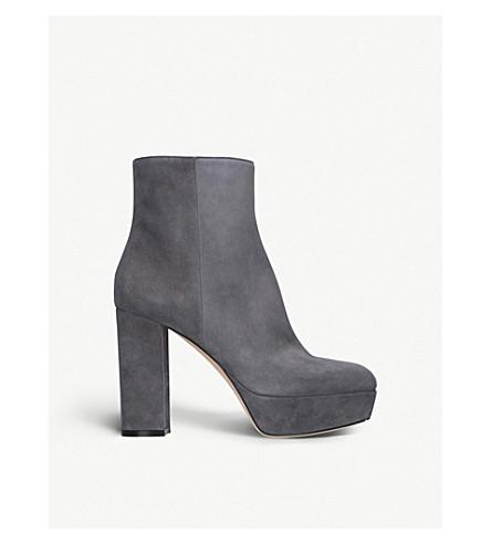 GIANVITO ROSSI福利平台麂皮绒脚踝靴 (灰色/深色