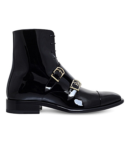 JIL SANDER Cisco patent-leather ankle boots (Black