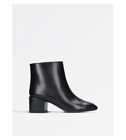 JIL SANDER Leather ankle boots (Black