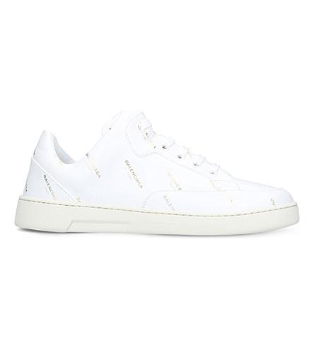 BALENCIAGA New Logo leather trainers (White/oth