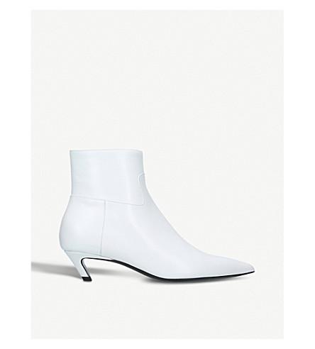 BALENCIAGA Slash 40 leather heeled ankle boots (White