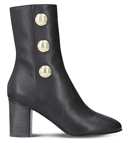 CHLOE Orlando leather heeled ankle boots (Black