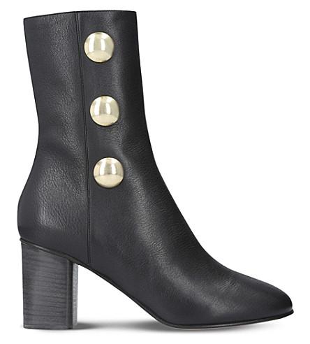 CHLOE Orlando leather heeled ankle boots (Black