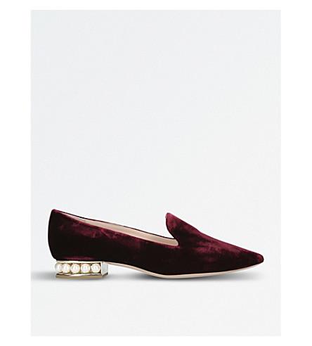 NICHOLAS KIRKWOOD Casati velvet loafers (Wine