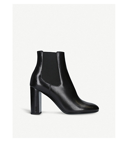 SAINT LAURENT Loulou 95 leather Chelsea boots (Black