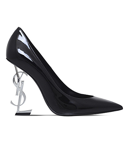 SAINT LAURENT Opyum pump 110 patent leather heels (Black
