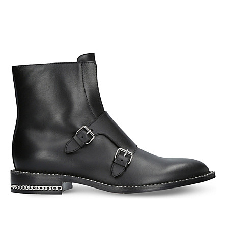 GIVENCHY Chain leather ankle boots (Black