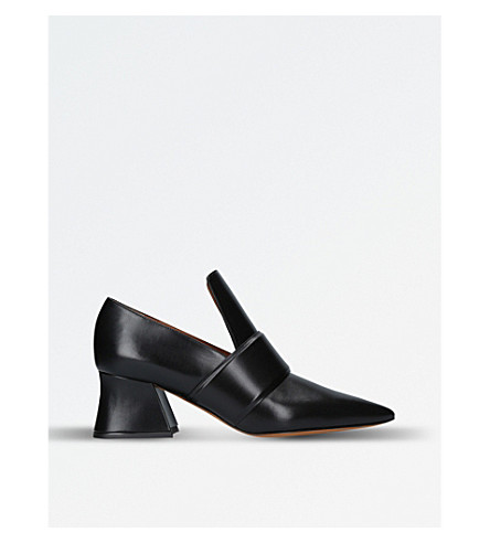 GIVENCHY Patricia leather heeled loafers (Black