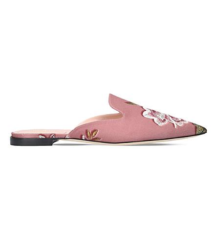 ALBERTA FERRETTI Mia silk mules (Pink+comb