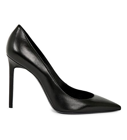 SAINT LAURENT Anja 105 leather heeled pumps (Black