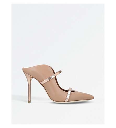 MALONE SOULIERS Maureen leather mules (Nude