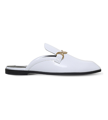 STELLA MCCARTNEY Chain mule loafers (White