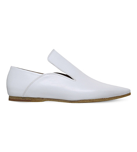 DRIES VAN NOTEN High-vamp leather shoes (White