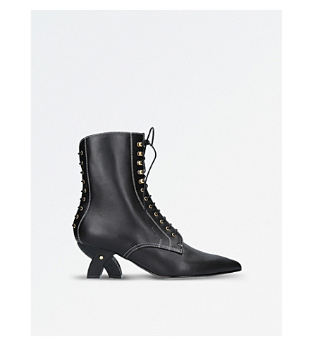 LOEWE Leather ankle boots (Black