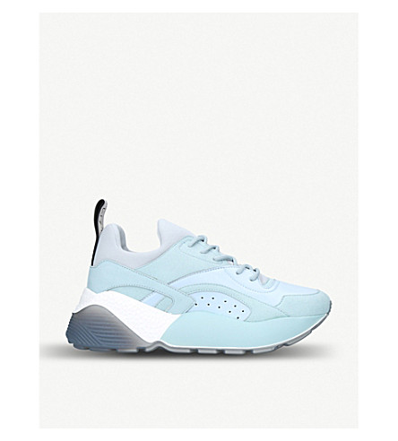 STELLA MCCARTNEY Eclypse neoprene trainers (Pale+blue