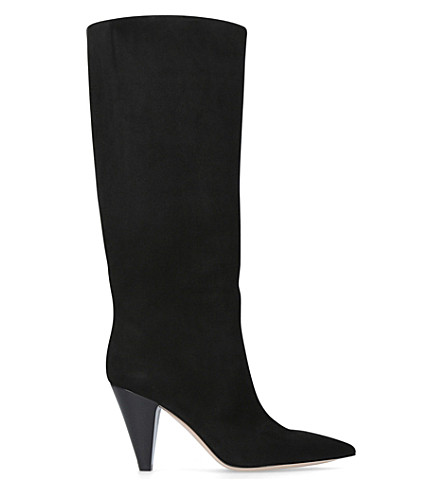 GIANVITO ROSSI Rennes 85 suede courts (Black