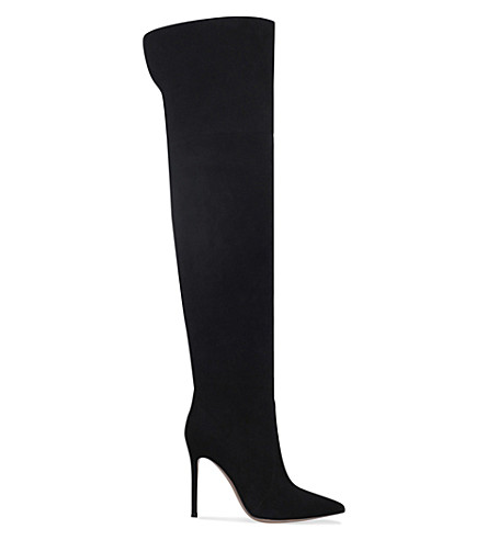 GIANVITO ROSSI Rennes 105 suede over-the knee boots (Black
