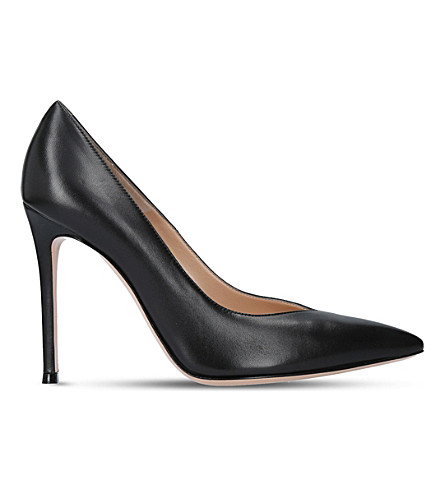 GIANVITO ROSSI Paris 105 leather court shoes (Black