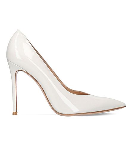 GIANVITO ROSSI Paris 105 patent-leather court shoes (Bone