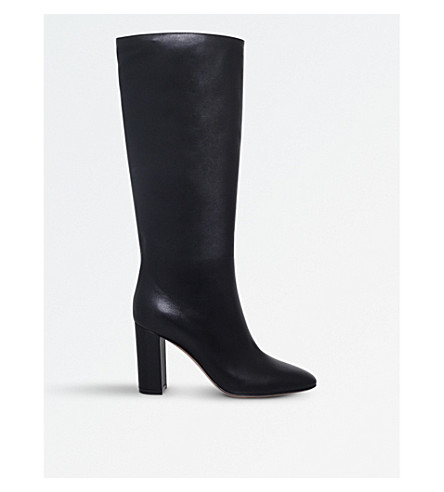 GIANVITO ROSSI Laura 85 leather boots (Black