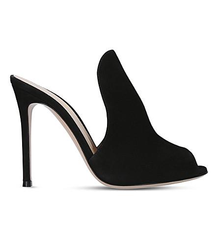 GIANVITO ROSSI Aramis 105 patent-leather mules (Black