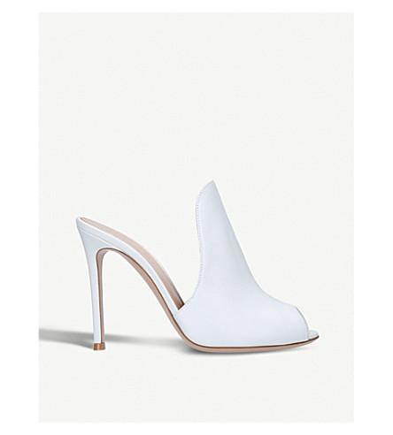 GIANVITO ROSSI Aramis 105 leather heeled mules (White