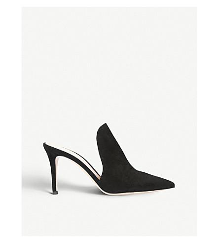 GIANVITO ROSSI Aramis 85 suede heeled mules (Black
