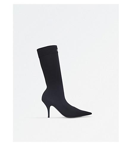 BALENCIAGA Knife 80 spandex heeled boots (Black