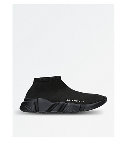 BALENCIAGA Speed low-top stretch-knit trainers (Black 21dbcfa67d