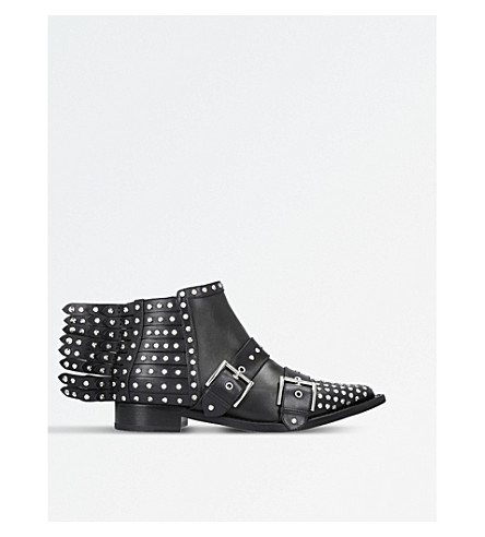 ALEXANDER MCQUEEN Studded leather ankle boots (Black