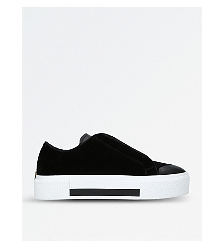 ALEXANDER MCQUEEN Slip-on velvet trainers (Black