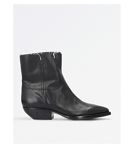 SAINT LAURENT Theo Eli leather ankle boots (Black