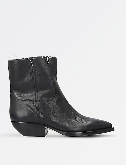 SAINT LAURENT Theo Eli leather ankle boots
