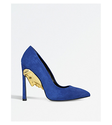 GANOR DOMINIC Apollo 3D-detail suede courts (Blue