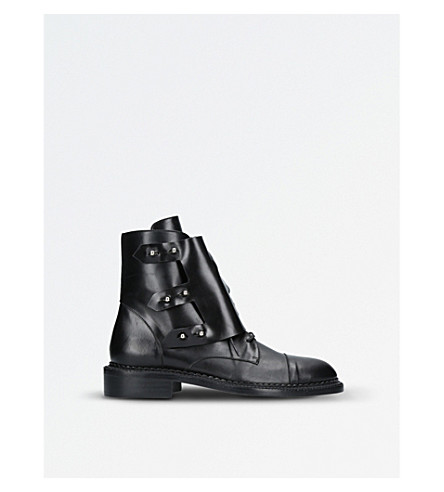 GANOR DOMINIC Ares leather ankle boots (Black