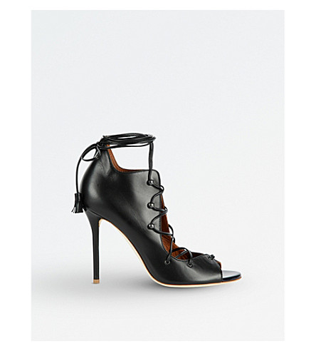 MALONE SOULIERS Savannah lace-up leather sandals (Navy