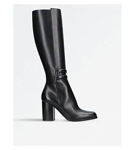 LOEWE Square-toe leather knee-high boots (Black