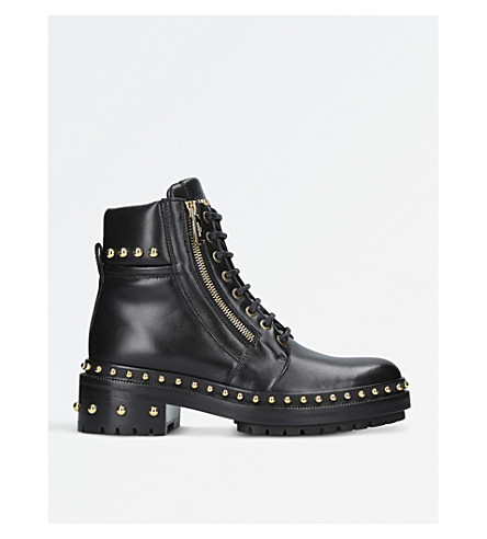 BALMAIN Army Ranger studded leather boots (Black