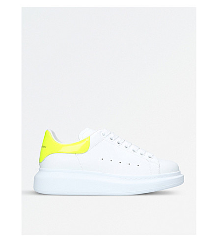 ALEXANDER MCQUEEN Runway leather trainers (Yellow