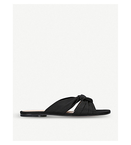 GIANVITO ROSSI Blair satin sandals (Black