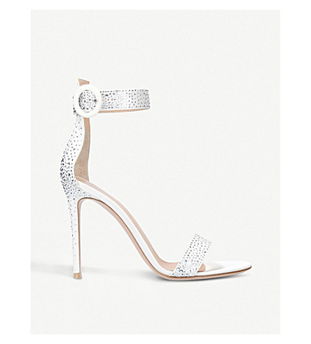 GIANVITO ROSSI Iridium 105 leather sandals (Winter+wht